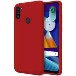 Funda Silicona Líquida Ultra Suave para Samsung Galaxy A11 / M11 color Roja
