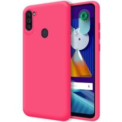 Funda Silicona Líquida Ultra Suave para Samsung Galaxy A11/M11 color Rosa Fucsia