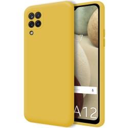 Funda Silicona Líquida Ultra Suave para Samsung Galaxy A12 color Amarilla
