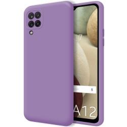 Funda Silicona Líquida Ultra Suave para Samsung Galaxy A12 color Morada