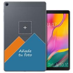 Personaliza tu Funda Gel Silicona Transparente con tu Fotografia para Samsung Galaxy Tab A 10.1 (2019) T510 / T515