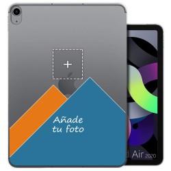 Personaliza tu Funda Gel Silicona Transparente con tu Fotografia para iPad Air 10.9 (2020) 4ª Gen. / iPad Pro 2018 3ª Gen.
