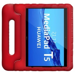 Funda Infantil Antigolpes con Asa para Huawei MediaPad T5 color Roja