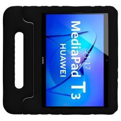 Funda Infantil Antigolpes con Asa para Huawei MediaPad T3 color Negra