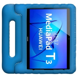 Funda Infantil Antigolpes con Asa para Huawei MediaPad T3 color Azul