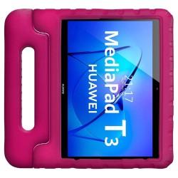 Funda Infantil Antigolpes con Asa para Huawei MediaPad T3 color Rosa