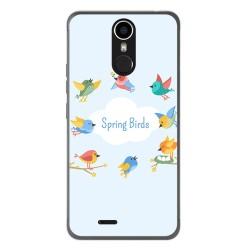 Funda Gel Tpu para Ulefone Metal Diseño Spring Birds Dibujos