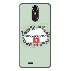 Funda Gel Tpu para Ulefone Metal Diseño Nube Dibujos