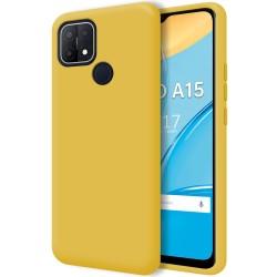Funda Silicona Líquida Ultra Suave para Oppo A15 color Amarilla