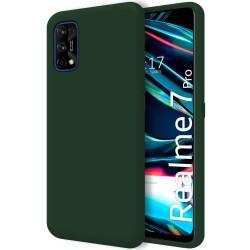 Funda Silicona Líquida Ultra Suave para Realme 7 Pro color Verde Oscuro