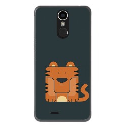 Funda Gel Tpu para Ulefone Metal Diseño Tigre Dibujos