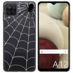Funda Gel Transparente para Samsung Galaxy A12 diseño Araña Dibujos