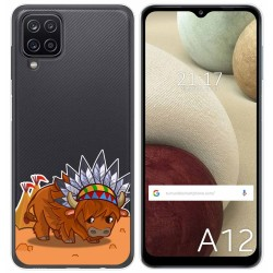 Funda Gel Transparente para Samsung Galaxy A12 diseño Bufalo Dibujos