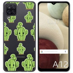 Funda Gel Transparente para Samsung Galaxy A12 diseño Cactus Dibujos