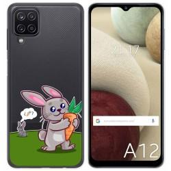 Funda Gel Transparente para Samsung Galaxy A12 diseño Conejo Dibujos