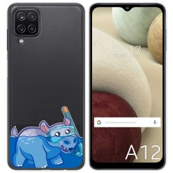 Funda Gel Transparente para Samsung Galaxy A12 diseño Hipo Dibujos