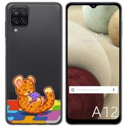 Funda Gel Transparente para Samsung Galaxy A12 diseño Leopardo Dibujos