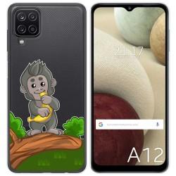 Funda Gel Transparente para Samsung Galaxy A12 diseño Mono Dibujos