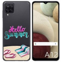 Funda Gel Transparente para Samsung Galaxy A12 diseño Summer Dibujos