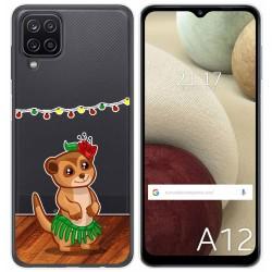 Funda Gel Transparente para Samsung Galaxy A12 diseño Suricata Dibujos