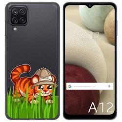 Funda Gel Transparente para Samsung Galaxy A12 diseño Tigre Dibujos