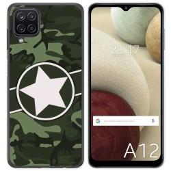 Funda Gel Tpu para Samsung Galaxy A12 diseño Camuflaje 01 Dibujos