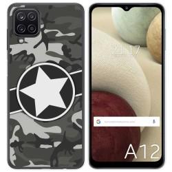 Funda Gel Tpu para Samsung Galaxy A12 diseño Camuflaje 02 Dibujos