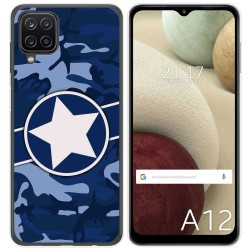 Funda Gel Tpu para Samsung Galaxy A12 diseño Camuflaje 03 Dibujos