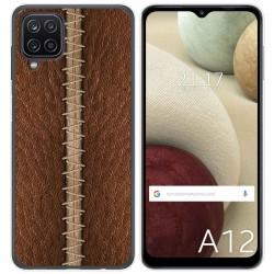 Funda Gel Tpu para Samsung Galaxy A12 diseño Cuero 01 Dibujos