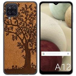 Funda Gel Tpu para Samsung Galaxy A12 diseño Cuero 03 Dibujos