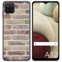 Funda Gel Tpu para Samsung Galaxy A12 diseño Ladrillo 01 Dibujos