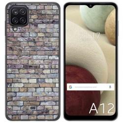 Funda Gel Tpu para Samsung Galaxy A12 diseño Ladrillo 02 Dibujos