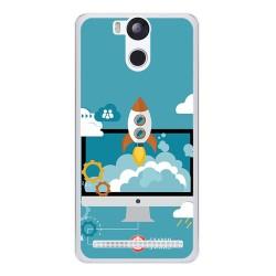 Funda Gel Tpu para Ulefone Power Diseño Cohete Dibujos