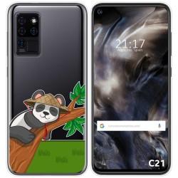 Funda Gel Transparente para Oukitel C21 diseño Panda Dibujos