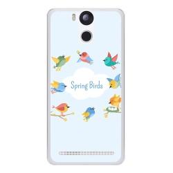 Funda Gel Tpu para Ulefone Power Diseño Spring Birds Dibujos