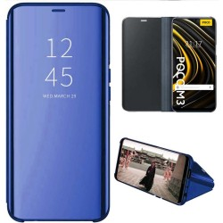 Funda Flip Cover Clear View para Xiaomi POCO M3 / Redmi 9T color Azul