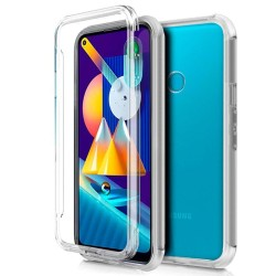 Funda Completa Transparente Pc + Tpu Full Body 360 para Samsung Galaxy A11 / M11