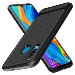 Funda Silicona Gel Tpu Nuevo Carbon Negra para Huawei P40 Lite E