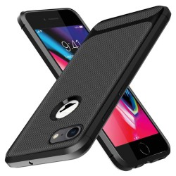 Funda Silicona Gel Tpu Nuevo Carbon Negra para Iphone 7 / 8 / SE 2020