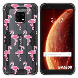 Funda Gel Transparente para Blackview BV4900 / BV4900 Pro diseño Flamenco Dibujos