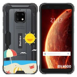 Funda Gel Transparente para Blackview BV4900 / BV4900 Pro diseño Playa Dibujos