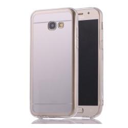 Funda Gel Tpu Efecto Espejo Plata para Samsung Galaxy A3 (2017)