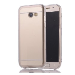 Funda Gel Tpu Efecto Espejo Dorada para Samsung Galaxy A3 (2017)