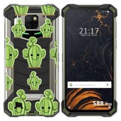 Funda Gel Transparente para Doogee S88 diseño Cactus Dibujos