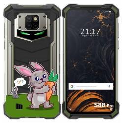 Funda Gel Transparente para Doogee S88 diseño Conejo Dibujos
