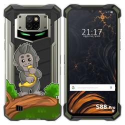 Funda Gel Transparente para Doogee S88 diseño Mono Dibujos