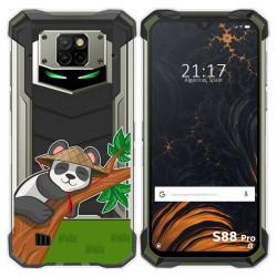 Funda Gel Transparente para Doogee S88 diseño Panda Dibujos