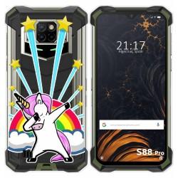 Funda Gel Transparente para Doogee S88 diseño Unicornio Dibujos