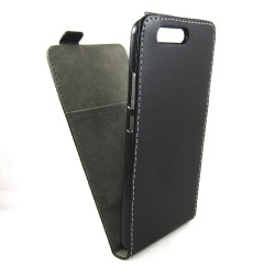 Funda Piel Premium Negra Ultra-Slim para Huawei P10 Plus