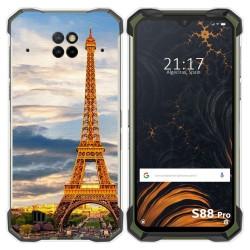 Funda Gel Tpu para Doogee S88 diseño Paris Dibujos